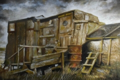 keith-robson-houseboat-greatham-creek-oil