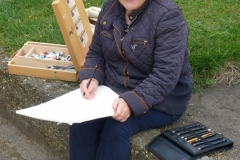 Outdoor Meeting at St Hilda's Church, The Headland August 2020