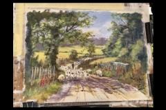 Watercolour work-in-progress by Rob Wilson